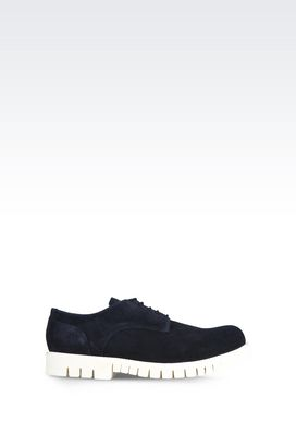 Armani Lace-up shoes Men suede lace up with white rubber sole shoe