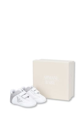 Armani Sneakers Men leather and cotton sneakers with velcro strap fastening