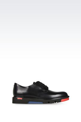 Armani Lace-up shoes Men leather oxford with colorblock sole