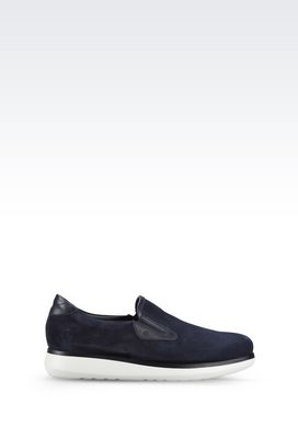 Armani Sneakers Men suede leather slip-ons