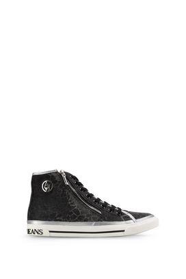 Armani Scarpe Donna sneakers alte effetto laminato