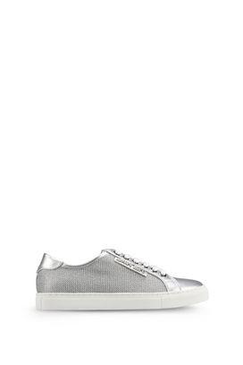 Armani Scarpe Donna sneakers basse in rete metallica