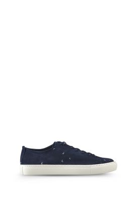 Armani Shoes Men suede low-top sneakers