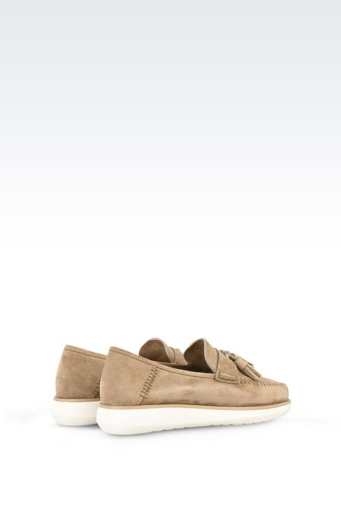 SUEDE LEATHER LOAFERS : Moccasins Men by Armani - 3