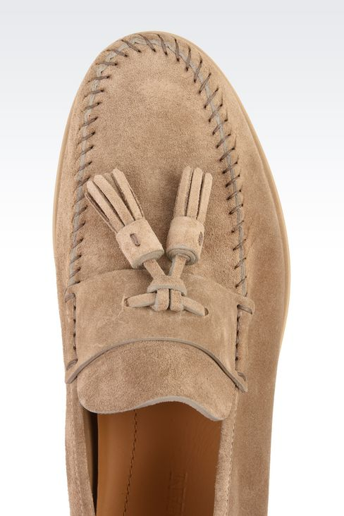 SUEDE LEATHER LOAFERS : Moccasins Men by Armani - 4