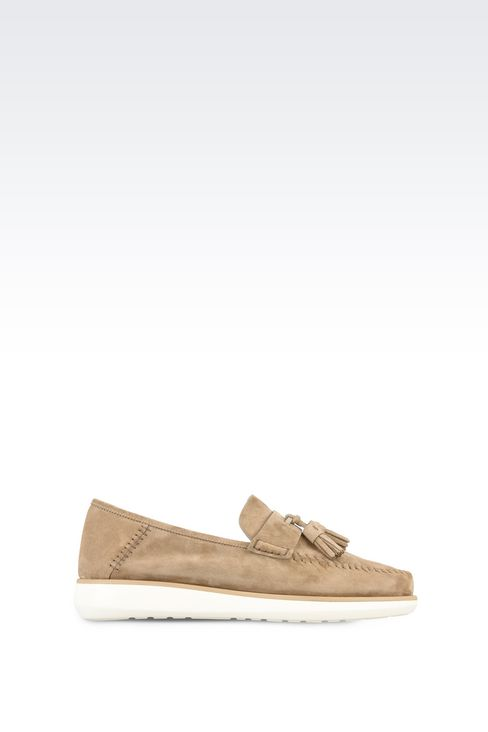 SUEDE LEATHER LOAFERS : Moccasins Men by Armani - 1