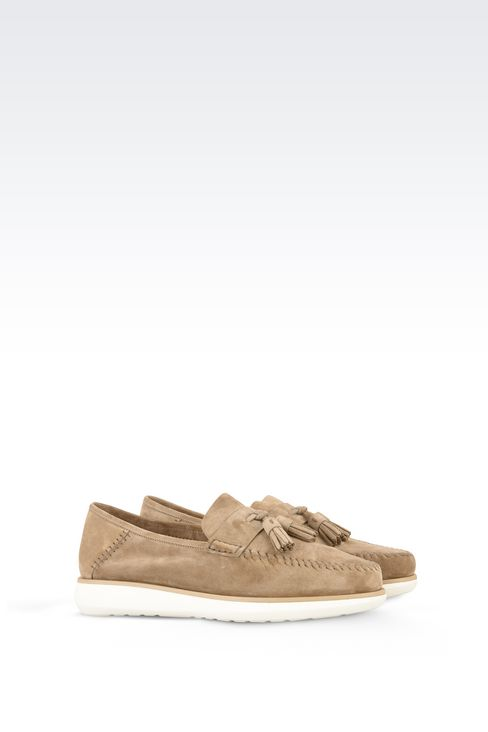 SUEDE LEATHER LOAFERS : Moccasins Men by Armani - 2