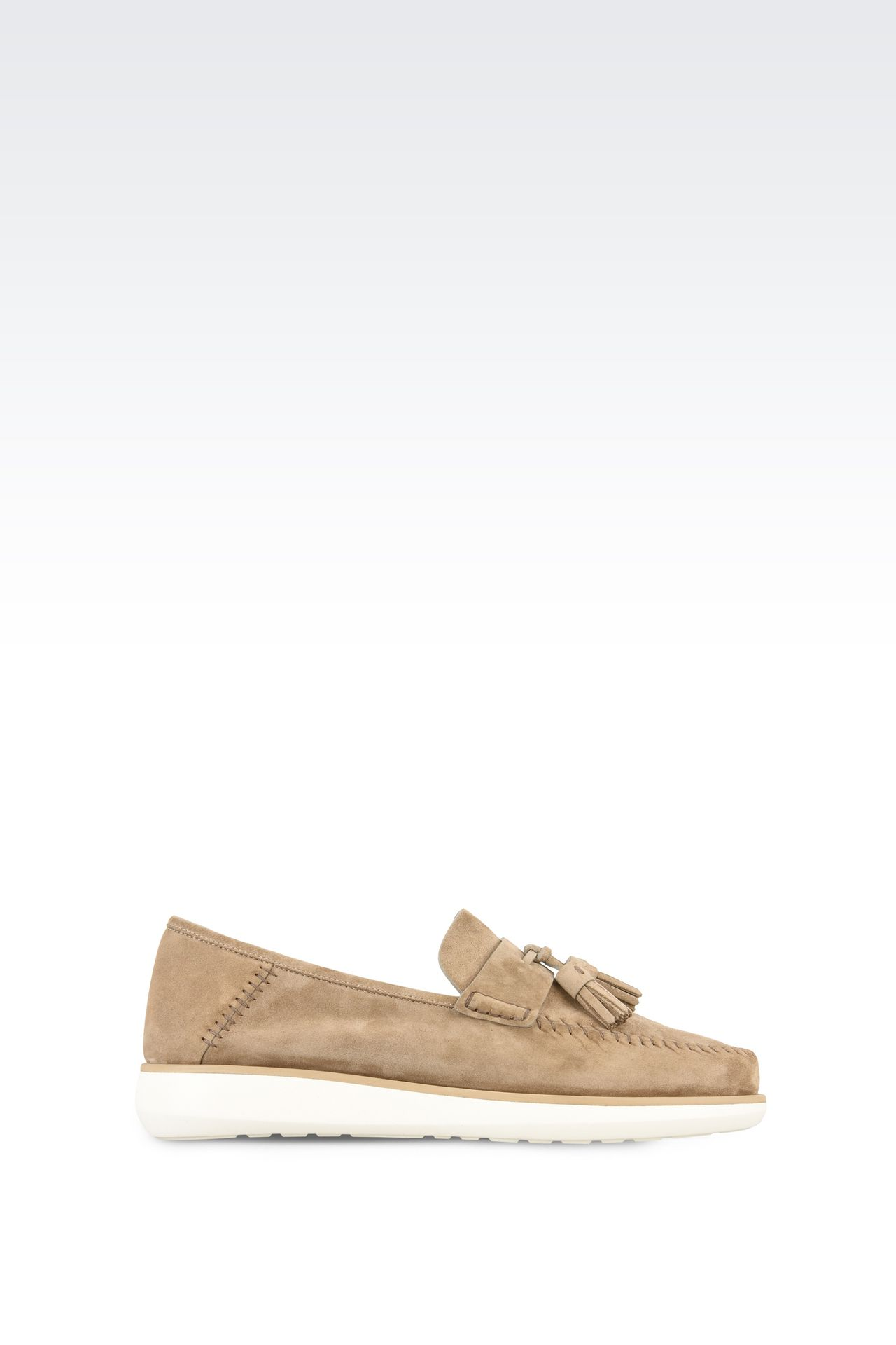 SUEDE LEATHER LOAFERS : Moccasins Men by Armani - 0