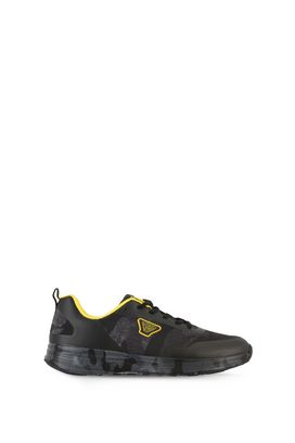 Armani Shoes Men camouflage technical fabric low-top sneakers