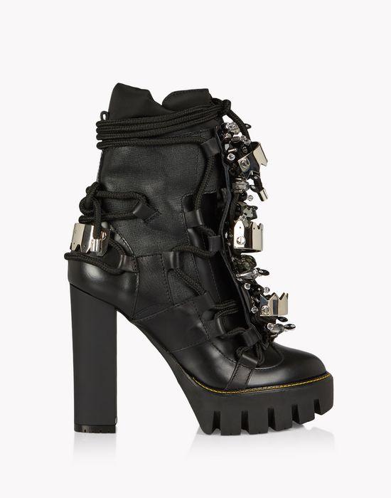 crystal embellished platform boots schuhe Damen Dsquared2