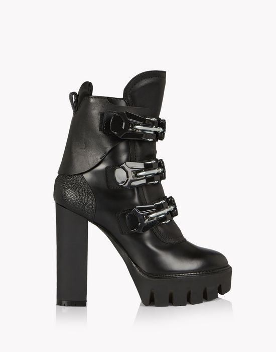ski clasp platform boots shoes Woman Dsquared2