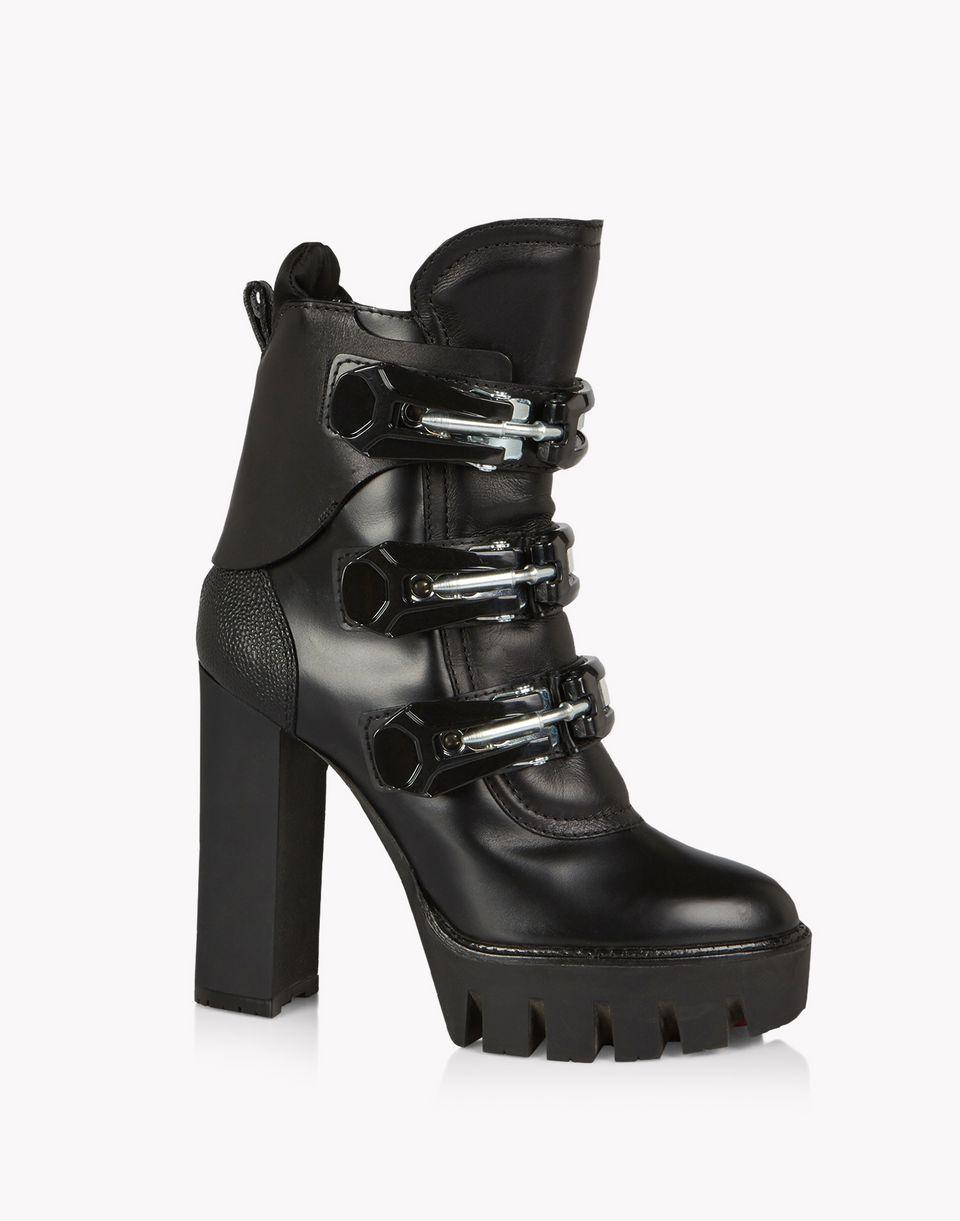ski clasp platform boots shoes Woman Dsquared2