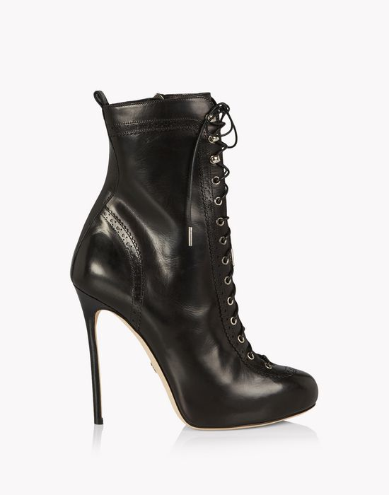 lace-up brogue ankle boots chaussures Femme Dsquared2