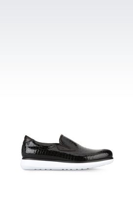 Armani Moccasins Men croc print nappa leather slip-ons