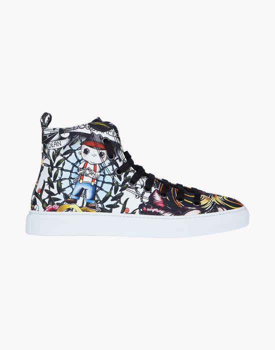 basquettes high top sneakers chaussures Homme Dsquared2