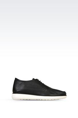 Armani Shoe boots Men leather chukka boots