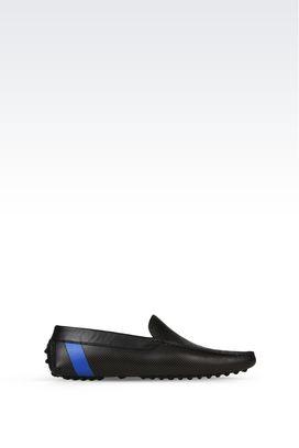 Armani Loafers Men single stripe driving loafer