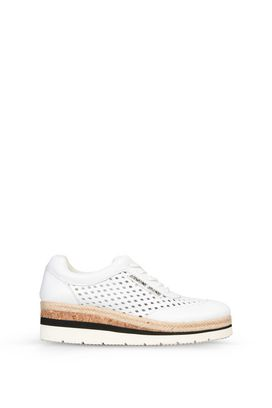 Armani Stringate Donna sneakers basse in similpelle traforata