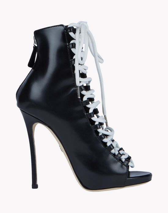 biker boots shoes Woman Dsquared2