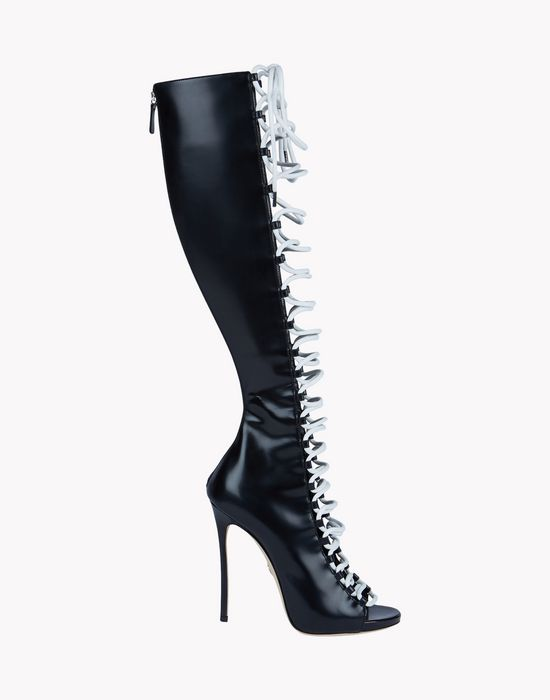 glam biker boots shoes Woman Dsquared2