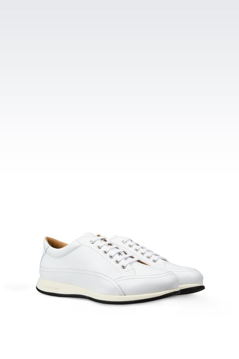 LEATHER SNEAKERS : Sneakers Men by Armani - 2