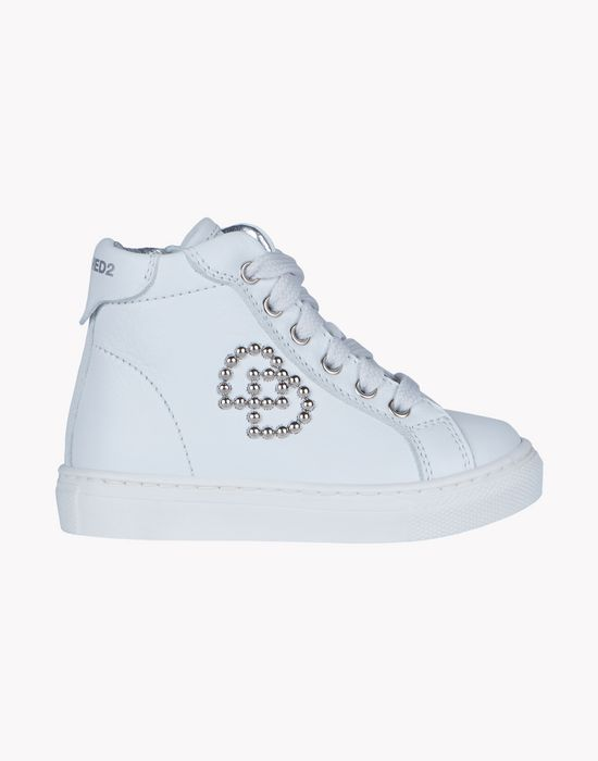 studded high top sneakers shoes Woman Dsquared2