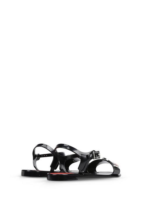 SANDALI FLAT CON LOGO AJ IN METALLO: Sandali Donna by Armani - 3