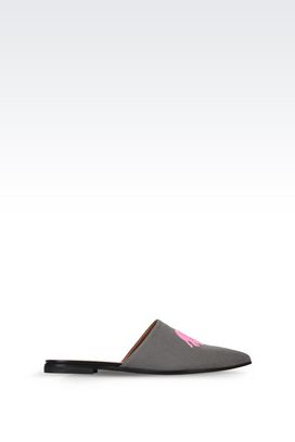 Armani Ballerine Donna slip-on in cotone con ricamo