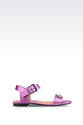 Armani Sandali Donna sandali in raso di seta