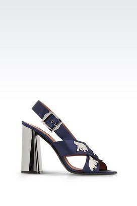 Armani Sandali con tacco Donna sandali in raso di seta