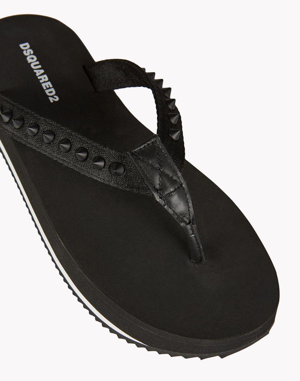 stud flip flops shoes Man Dsquared2