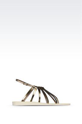 Armani Sandali flat Donna sandali infradito di sfilata in pelle