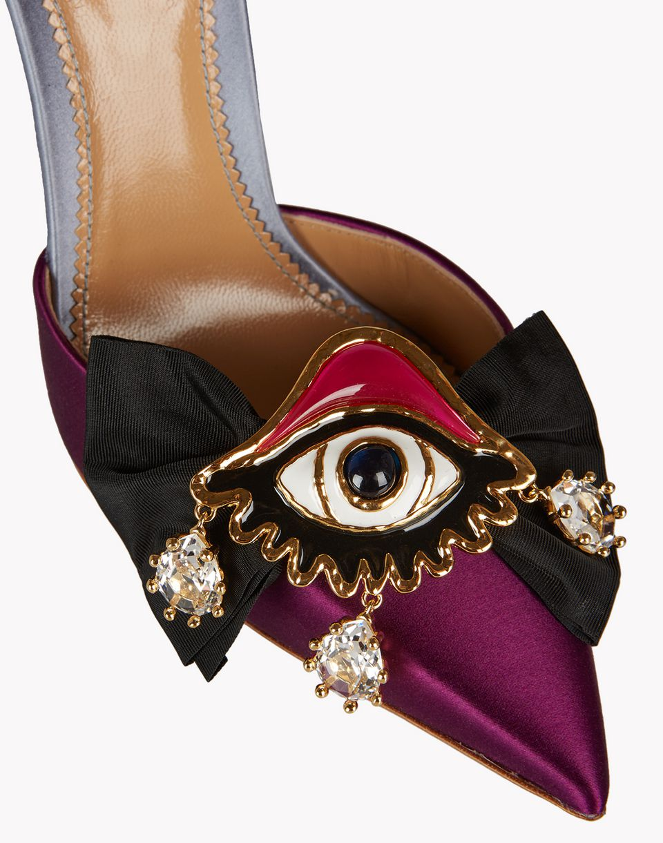 embellished satin slingbacks shoes Woman Dsquared2
