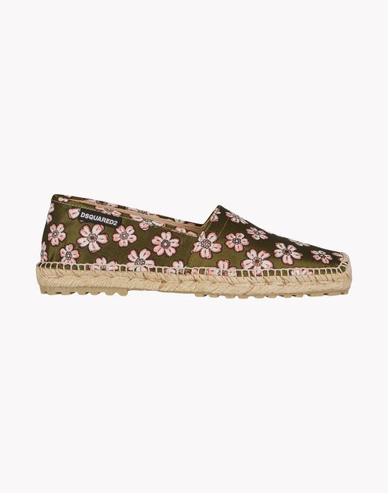 floral espadrille shoes Man Dsquared2