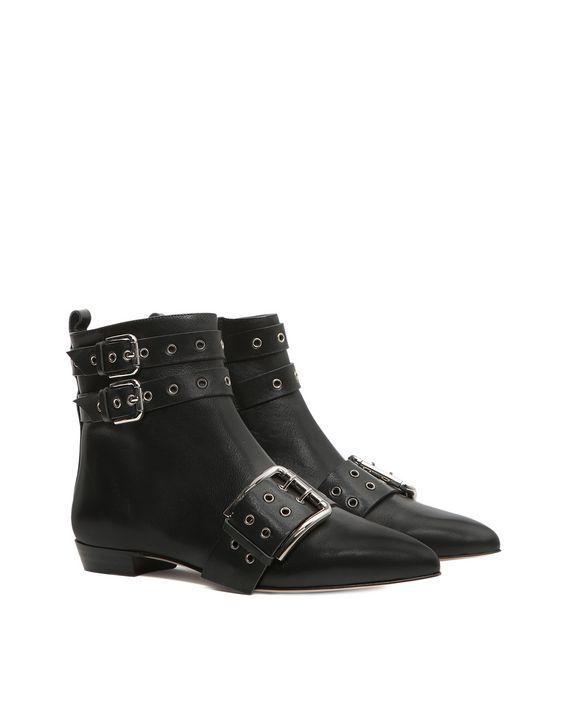 ankle boots mit schnallen detail stiefel f r sie im. Black Bedroom Furniture Sets. Home Design Ideas