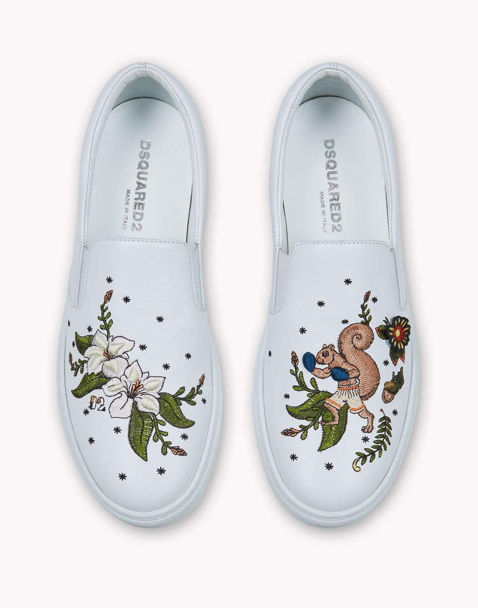 embroidered slip on sneakers shoes Woman Dsquared2