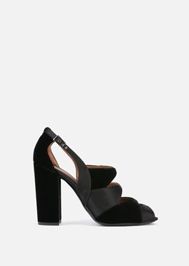 Armani Sandals Women cut out open-toe leather sandals