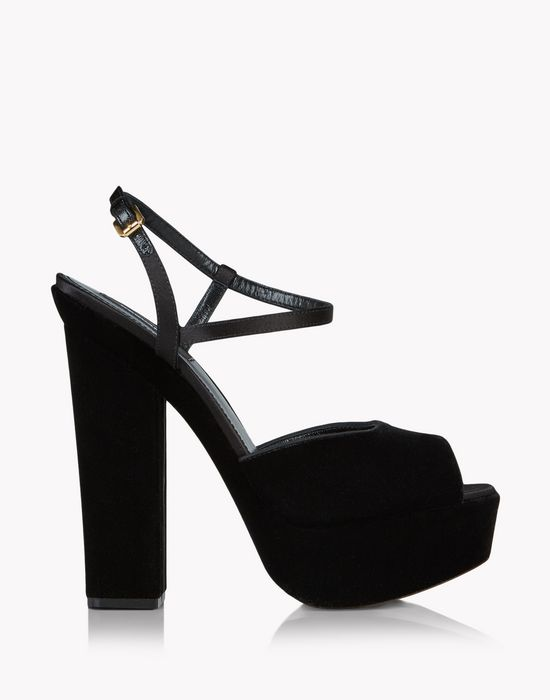 velvet platform ziggy sandals shoes Woman Dsquared2