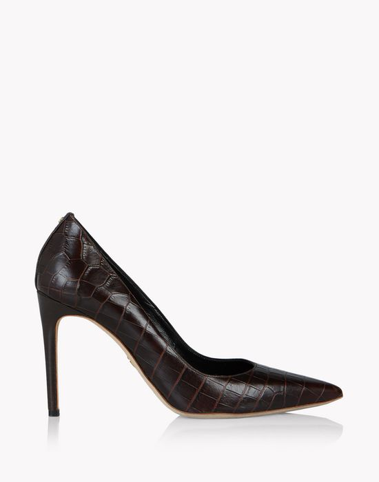 croc-effect leather pumps scarpe Donna Dsquared2
