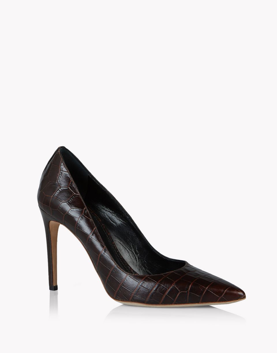croc-effect leather pumps schuhe Damen Dsquared2