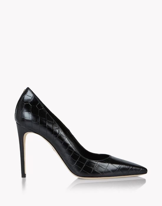 croc-effect leather pumps chaussures Femme Dsquared2