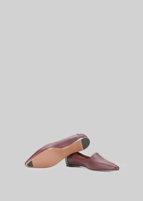 LEATHER BALLET FLATS: Ballet Flats Women by Armani - 5