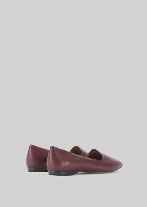 LEATHER BALLET FLATS: Ballet Flats Women by Armani - 3