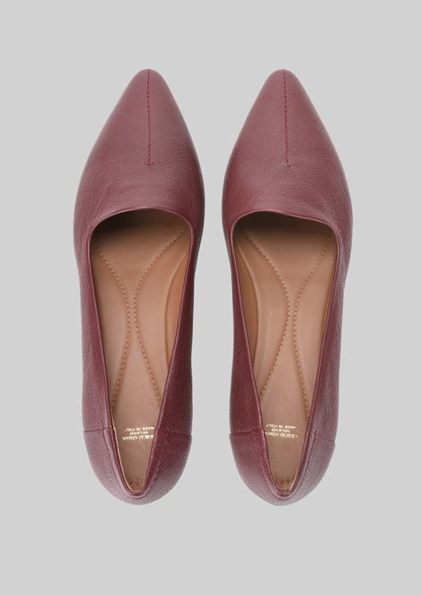 LEATHER BALLET FLATS: Ballet Flats Women by Armani - 4
