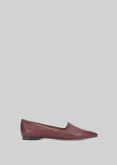 LEATHER BALLET FLATS: Ballet Flats Women by Armani - 1