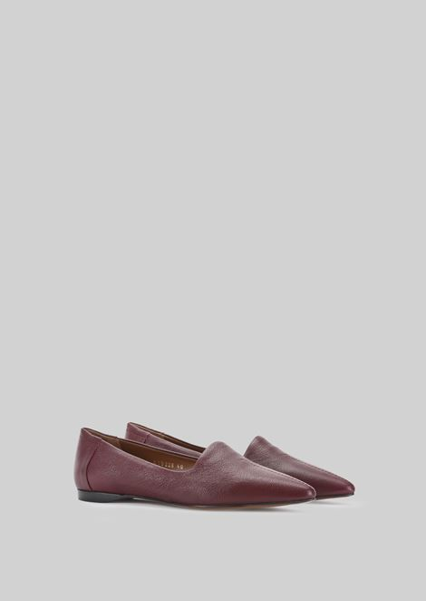 LEATHER BALLET FLATS: Ballet Flats Women by Armani - 2