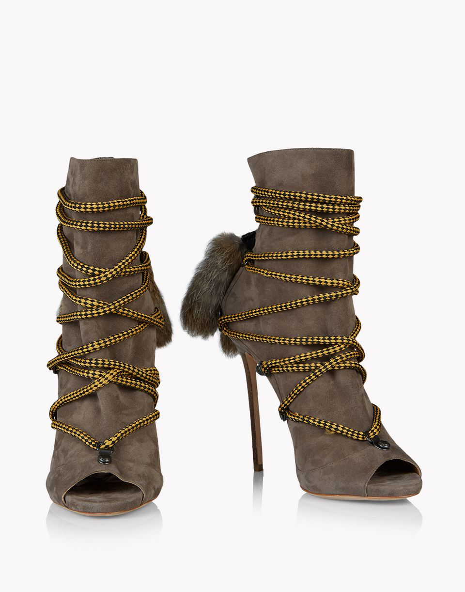fur laced riri boots shoes Woman Dsquared2