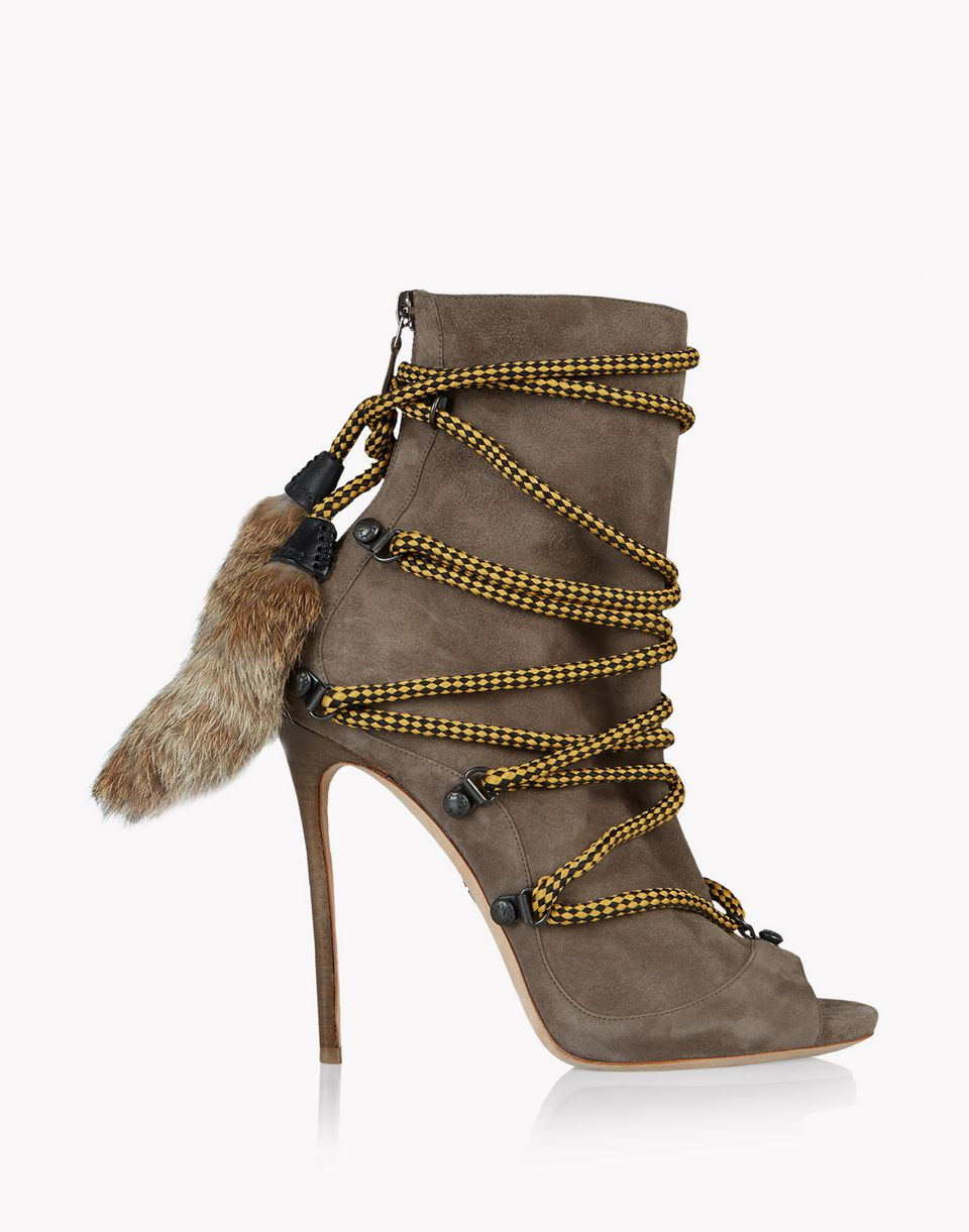 fur laced riri boots schuhe Damen Dsquared2