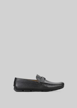 Armani Driving Shoes Men leather driving loafers