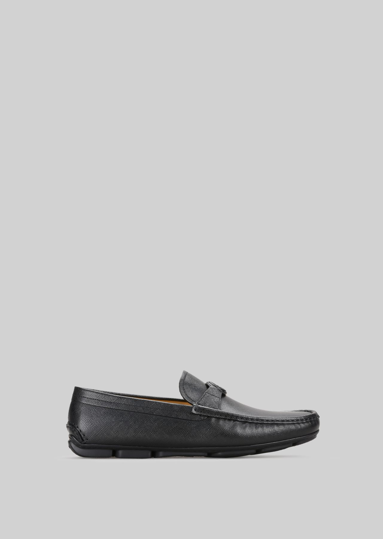 LEATHER DRIVING LOAFERS: Driving Shoes Men by Armani - 0